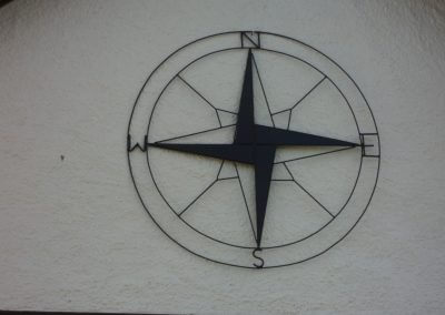 Custom Metal Art Decorative Compass